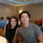 steven yeun pics with girlfriend