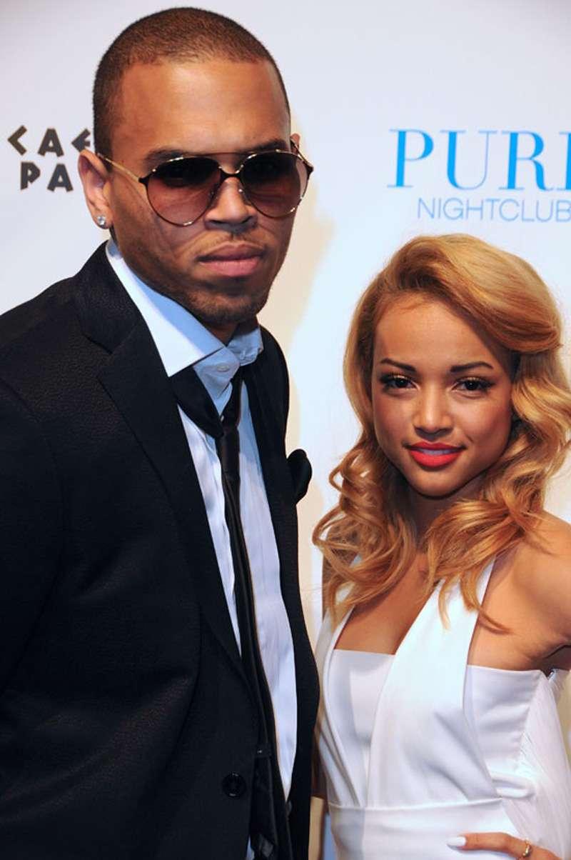 Chris Brown and Girlfriend Karrueche Tran in 2015 Back