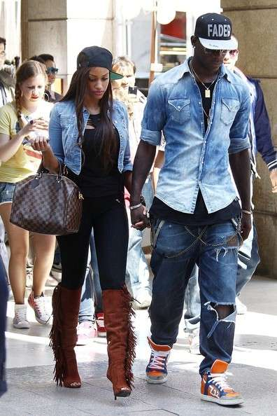 New girlfriend of Mario Balotelli