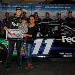 Denny Hamlin and Jordan Fish with Daughter