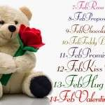 Valentine Week List 2015 Dates Schedule Day Full List Rose Propose Hug Kiss Chocolate