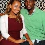 Adrienne Williams Bosh with husband