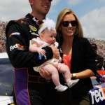 Daughter of Denny Hamlin with daughter