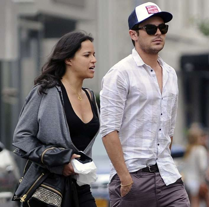 michelle rodriguez and zac efron 2015