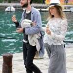 Sienna Miller baby bump with fiance Tom Sturridge