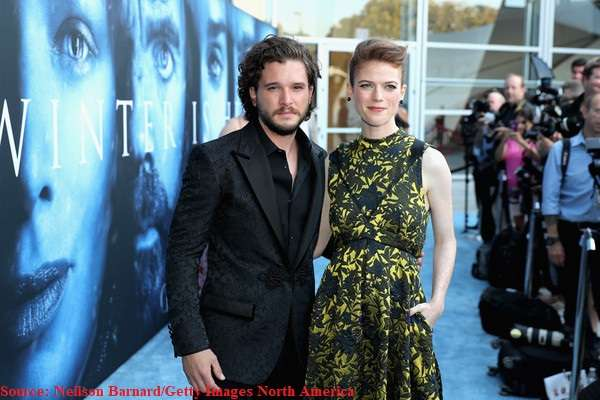 Kit Harington along with fiance