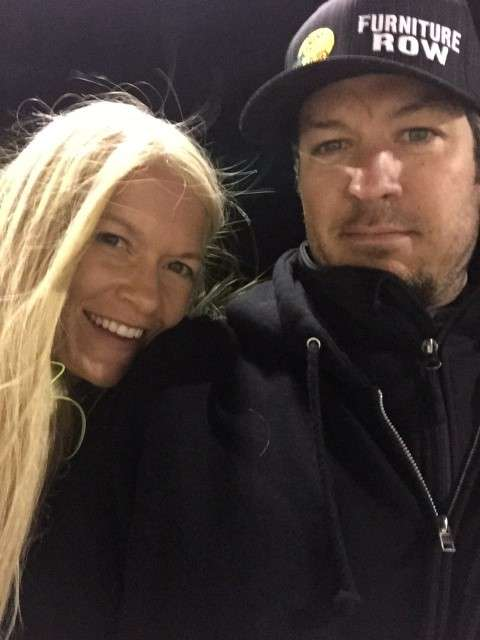 Martin Truex Jr and Sherry Pollex