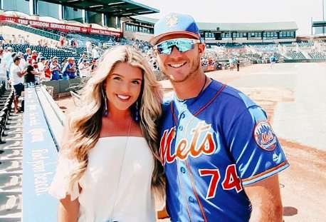 Pete Alonso and Haley Renee